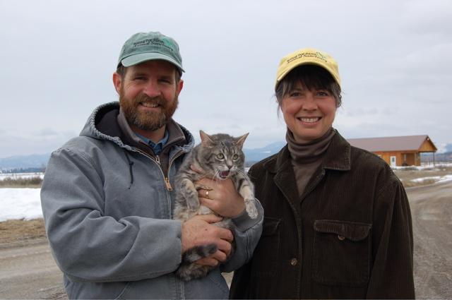 Tibby with Steve and Alayne for blog