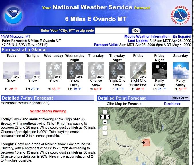 Forecast April 28