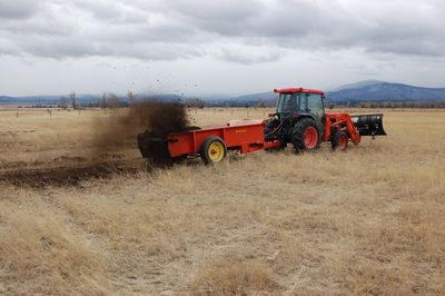 Spreading compost Oct 27