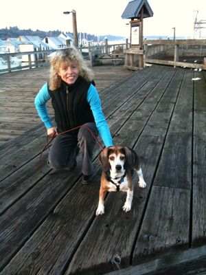 Charlie at dock with Julie