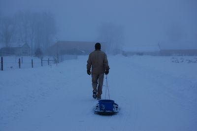 Steve with sleigh