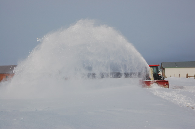 Snowblowing March 30