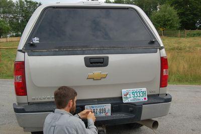 Steve putting on NH plates