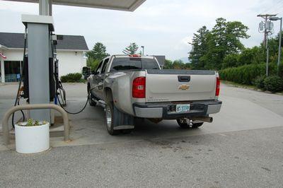 Truck fueling July 16