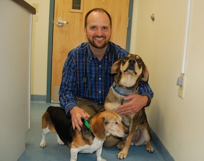 Ella and Widget with Dr Harnett