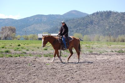 Alayne riding Cash
