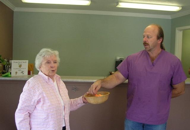 Dave and Barbara with raffle drawing