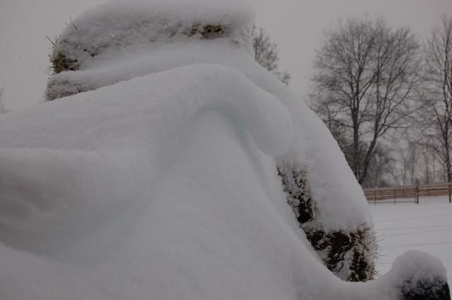 Truck under snow 3