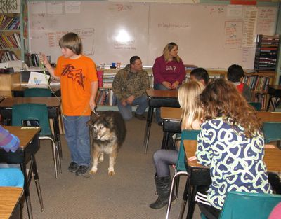 Gabe in class