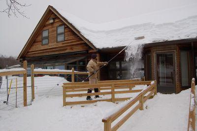 Steve with snow rake