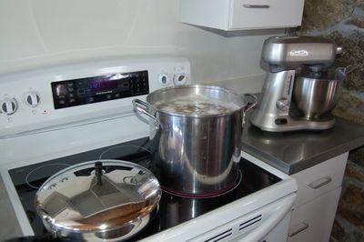 Potatoes on stove