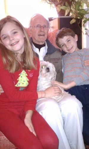 Irene with grandchildren and Ed