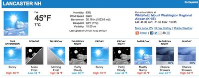 Lancaster Weather October 24