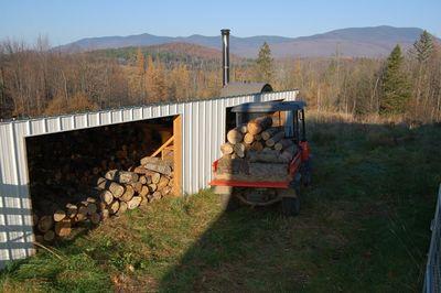 Wood on RTV at shed