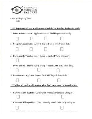 Darla's meds chart