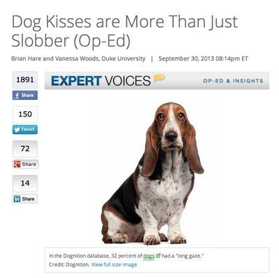 Live Sicence on Dog Kisses