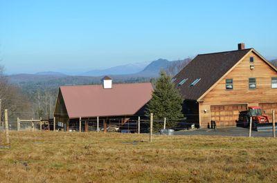 Cupola on barn view scene