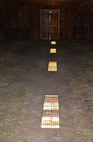 Floor grates in barn